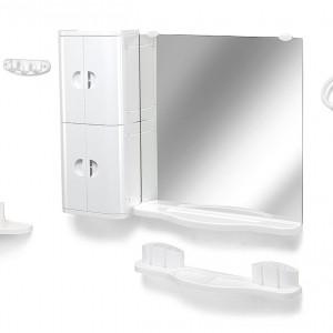 Набор для ванной с зеркалом и шкафчиками, Элегант 06-02