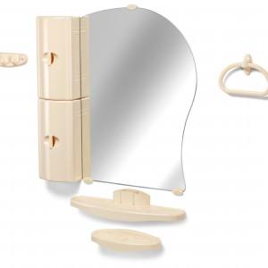 Шкафчик с зеркалом в ванную, Белпласт 10-01