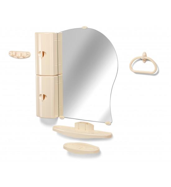 Шкафчик с зеркалом в ванную купить Белпласт 10-01
