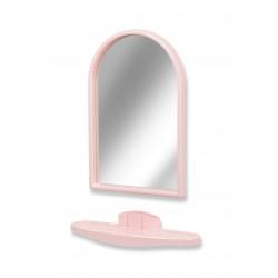 Зеркало с полкой для ванной, Белпласт-мини