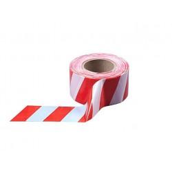 Лента сигнальная оградительная красно-белая 150 х 0,08