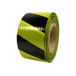 Сигнальная лента желто-черная 150 х 0,08